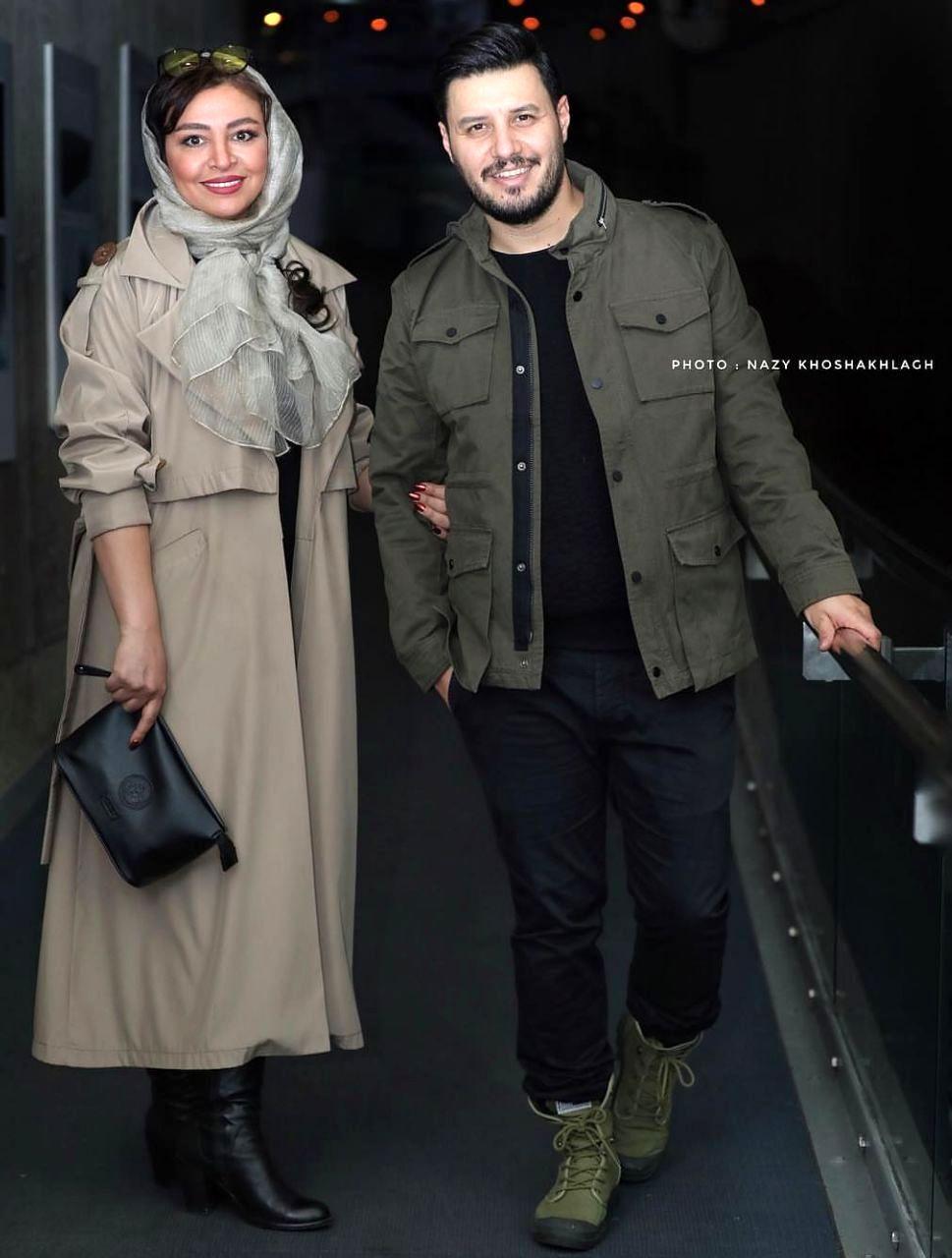 جواد عزتی و همسرش در جشنواره فیلم فجر