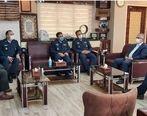 دیدار معاون هماهنگ کننده نیروی هوایی ارتش با مدیرعامل سازمان اموال تملیکی