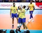 برزیل یک گام تا قهرمانی جامجهانی والیبال