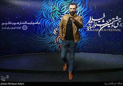 حسام منظور بازیگر در هفتمین روز سی و هشتمین جشنواره فیلم فجر در پردیس چارسو
